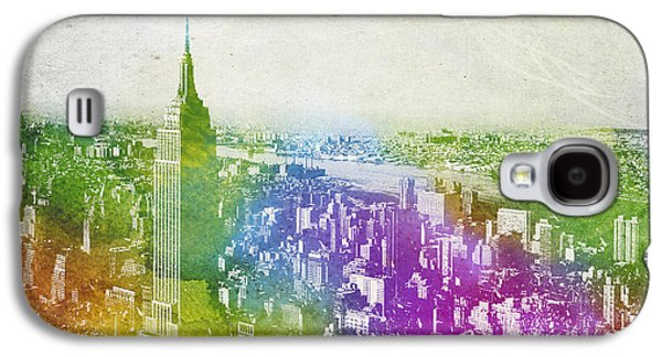 Skylines Mixed Media Galaxy S4 Cases - New York City Skyline Galaxy S4 Case by Aged Pixel