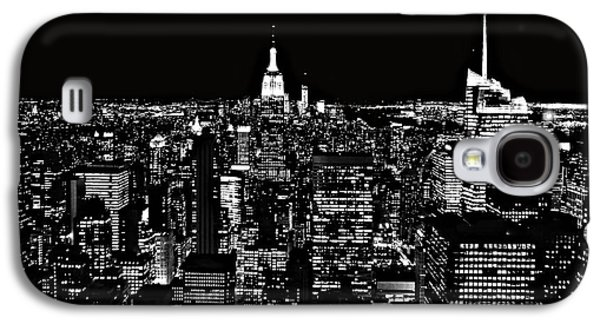 New York City Skyline At Night Galaxy S4 Case by Dan Sproul