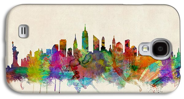 Poster Galaxy S4 Cases - New York City Skyline Galaxy S4 Case by Michael Tompsett