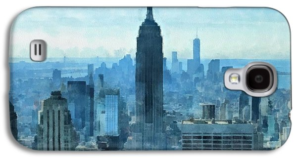 Skylines Mixed Media Galaxy S4 Cases - New York City Skyline Summer Day Galaxy S4 Case by Dan Sproul