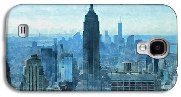 Architecture Mixed Media Galaxy S4 Cases - New York City Skyline Summer Day Galaxy S4 Case by Dan Sproul