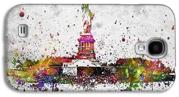 City Scape Galaxy S4 Cases - New York City Statue of Liberty Galaxy S4 Case by Aged Pixel