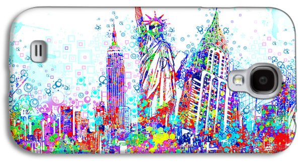 Statue Portrait Galaxy S4 Cases - New York City tribute 3 Galaxy S4 Case by MB Art factory