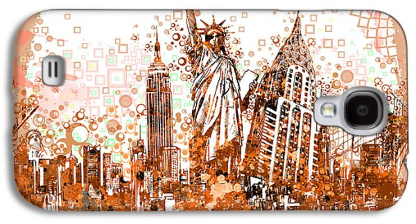 Statue Portrait Galaxy S4 Cases - New York City tribute 4 Galaxy S4 Case by MB Art factory
