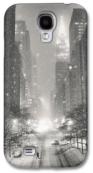 Winter Night Galaxy S4 Cases - New York City - Winter Night Overlooking the Chrysler Building Galaxy S4 Case by Vivienne Gucwa