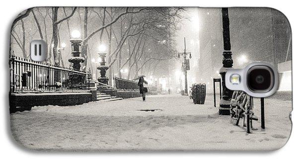 Winter Night Galaxy S4 Cases - New York City Winter Night Galaxy S4 Case by Vivienne Gucwa