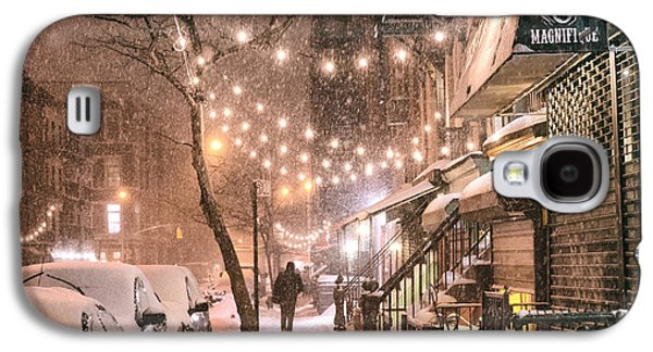 New York City - Winter Snow Scene - East Village Galaxy S4 Case by Vivienne Gucwa