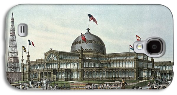 Base Galaxy S4 Cases - New York Crystal Palace, Built For World Fair In 1853 Colour Litho Galaxy S4 Case by Sydney Currie
