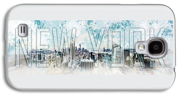 Abstract Digital Galaxy S4 Cases - NEW YORK Digital-Art No.1 Galaxy S4 Case by Melanie Viola