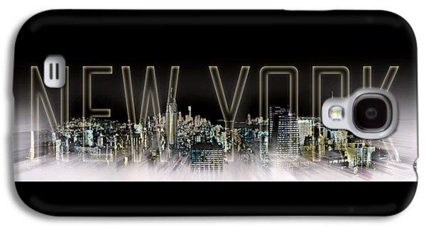 Abstract Digital Galaxy S4 Cases - NEW YORK Digital-Art No.2 Galaxy S4 Case by Melanie Viola