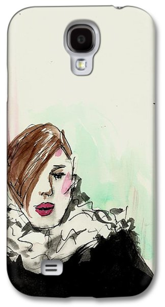 Business Drawings Galaxy S4 Cases - New York fashion week Galaxy S4 Case by P J Lewis