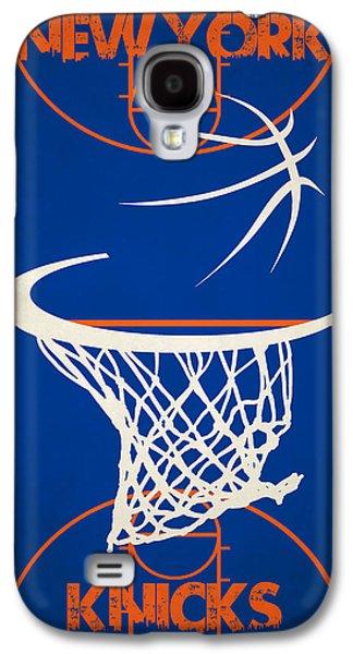 3 Pointer Galaxy S4 Cases - New York Knicks Court Galaxy S4 Case by Joe Hamilton