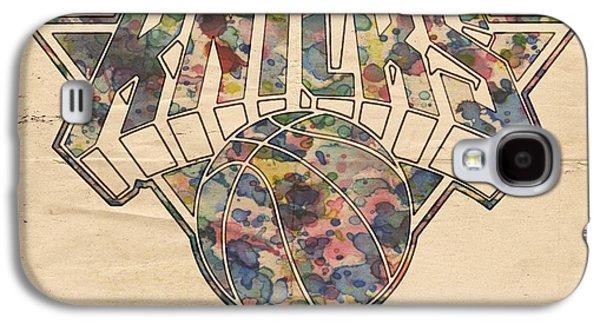 Best Sellers -  - Slam Galaxy S4 Cases - New York Knicks Poster Art Galaxy S4 Case by Florian Rodarte