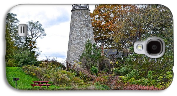 Old Maine Houses Galaxy S4 Cases - New York Lighthouse Galaxy S4 Case by Frozen in Time Fine Art Photography