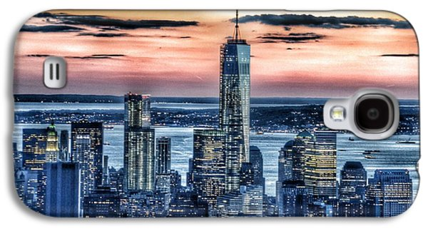 Strong America Galaxy S4 Cases - New York - Manhattan Landscape Galaxy S4 Case by Marianna Mills