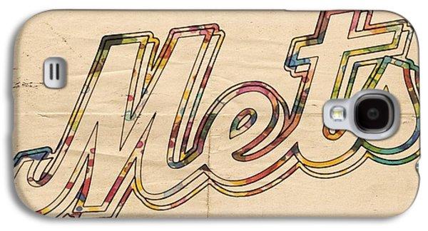 Baseball Galaxy S4 Cases - New York Mets Logo Vintage Galaxy S4 Case by Florian Rodarte