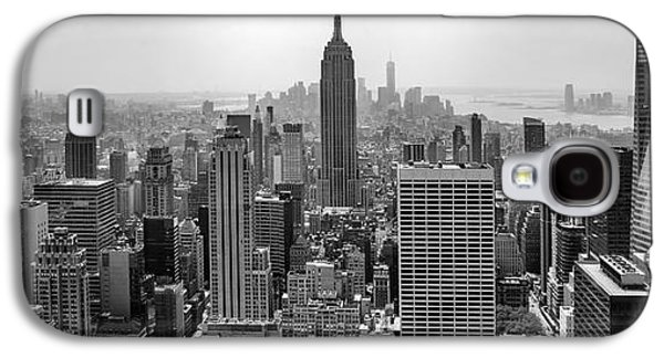 Midtown Galaxy S4 Cases - New York Moody Skyline  Galaxy S4 Case by Az Jackson