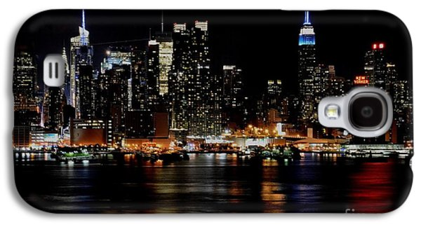 Abstract Digital Paintings Galaxy S4 Cases - New York New York H a Galaxy S4 Case by Gert J Rheeders