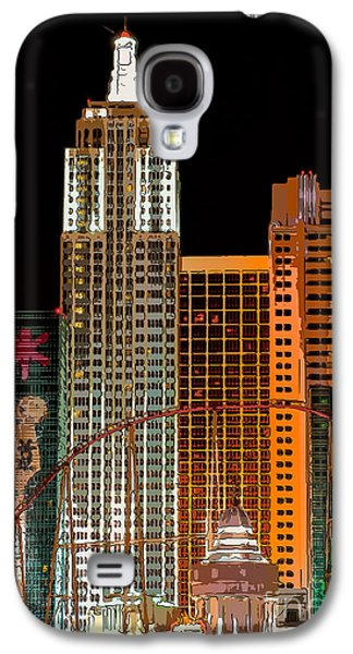 The Strip Galaxy S4 Cases - New York-New York Hotel Las Vegas - Pop Art Style Galaxy S4 Case by Ian Monk