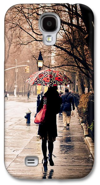Rainy Day Photographs Galaxy S4 Cases - New York Rain - Greenwich Village Galaxy S4 Case by Vivienne Gucwa