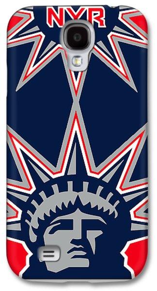 New York Rangers Galaxy S4 Case by Tony Rubino