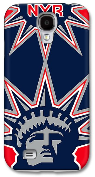Stanley Cup Paintings Galaxy S4 Cases - New York Rangers Galaxy S4 Case by Tony Rubino