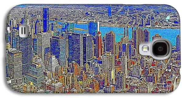 Manhatten Galaxy S4 Cases - New York Skyline 20130430 Galaxy S4 Case by Wingsdomain Art and Photography