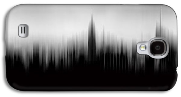 Midtown Galaxy S4 Cases - New York Skyline Abstract Galaxy S4 Case by Az Jackson