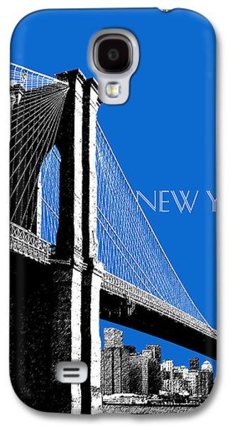 Brooklyn Bridge Digital Galaxy S4 Cases - New York Skyline Brooklyn Bridge - Blue Galaxy S4 Case by DB Artist