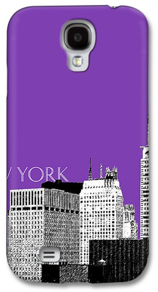 Pencil Digital Galaxy S4 Cases - New York Skyline Chrysler Building - Purple Galaxy S4 Case by DB Artist