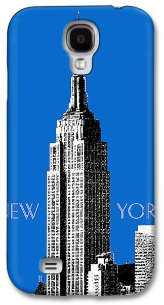Mid-century Modern Decor Digital Galaxy S4 Cases - New York Skyline Empire State Building - Blue Galaxy S4 Case by DB Artist
