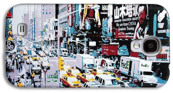Buildin Galaxy S4 Cases - New York Traffic Galaxy S4 Case by Sue Rowe