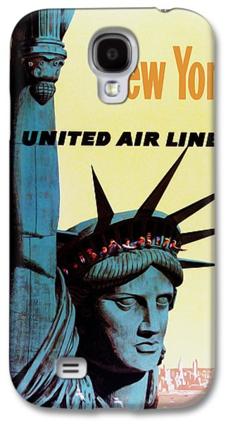 Landmarks Photographs Galaxy S4 Cases - New York United Airlines Galaxy S4 Case by Mark Rogan