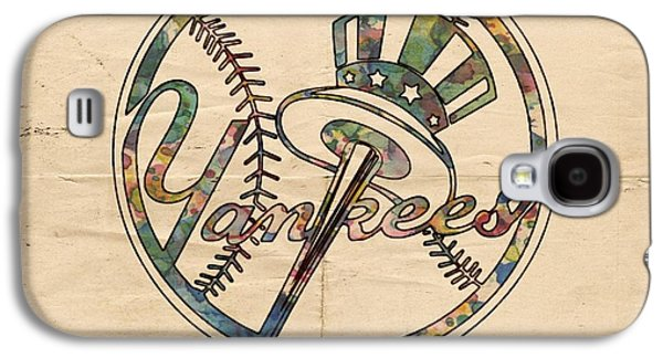 Bat Digital Art Galaxy S4 Cases - New York Yankees Poster Vintage Galaxy S4 Case by Florian Rodarte