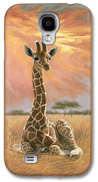 African Paintings Galaxy S4 Cases - Newborn Giraffe Galaxy S4 Case by Lucie Bilodeau