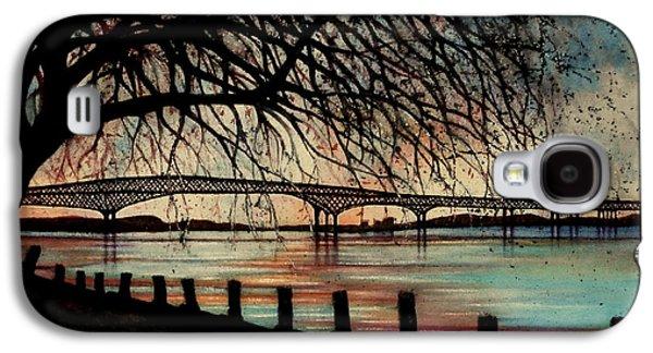 Newburgh Beacon Bridge Sunset Galaxy S4 Case by Janine Riley