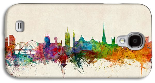 Great Britain Galaxy S4 Cases - Newcastle England Skyline Galaxy S4 Case by Michael Tompsett