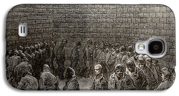 Jail Galaxy S4 Cases - Newgate Prison Exercise Yard Galaxy S4 Case by Gustave Dore