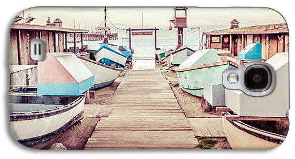 Fleeting Galaxy S4 Cases - Newport Beach Dory Fleet Retro Panorama Photo Galaxy S4 Case by Paul Velgos