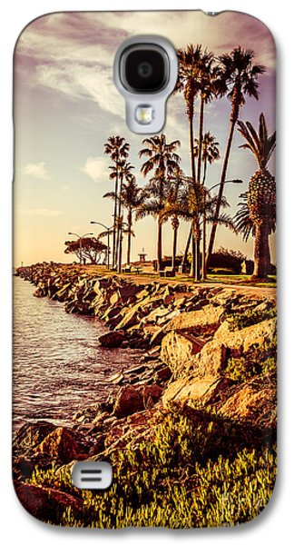 Water Filter Galaxy S4 Cases - Newport Beach Jetty Vintage Filter Picture Galaxy S4 Case by Paul Velgos