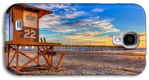 Newport Beach Pier - Wintertime  Galaxy S4 Case by Jim Carrell