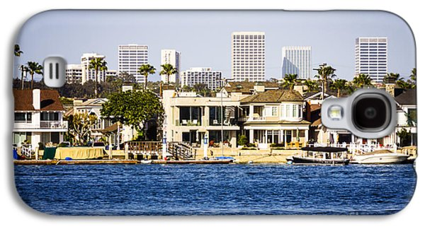 Upscale Galaxy S4 Cases - Newport Beach Skyline and Waterfront Homes Picture Galaxy S4 Case by Paul Velgos