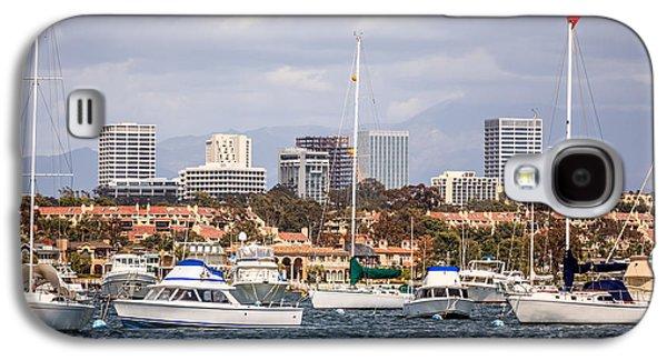 Business Galaxy S4 Cases - Newport Beach Skyline  Galaxy S4 Case by Paul Velgos