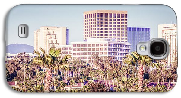 Business Galaxy S4 Cases - Newport Beach Skyline Retro Panorama Photo Galaxy S4 Case by Paul Velgos