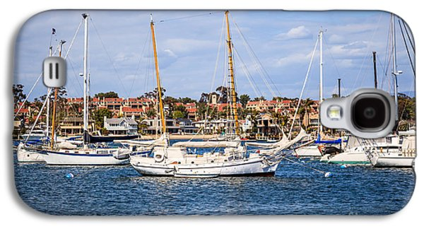 Upscale Galaxy S4 Cases - Newport Harbor Boats in Orange County California Galaxy S4 Case by Paul Velgos