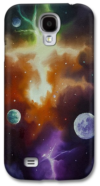 Interplanetary Space Paintings Galaxy S4 Cases - Ngc 1030 Galaxy S4 Case by James Christopher Hill