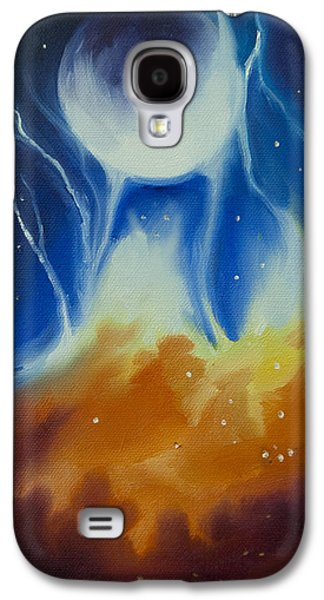Interplanetary Space Paintings Galaxy S4 Cases - Ngc 1031 Galaxy S4 Case by James Christopher Hill