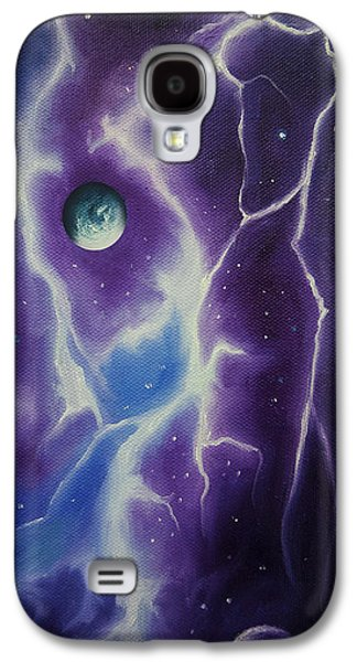Interplanetary Space Paintings Galaxy S4 Cases - Ngc 1034 Galaxy S4 Case by James Christopher Hill