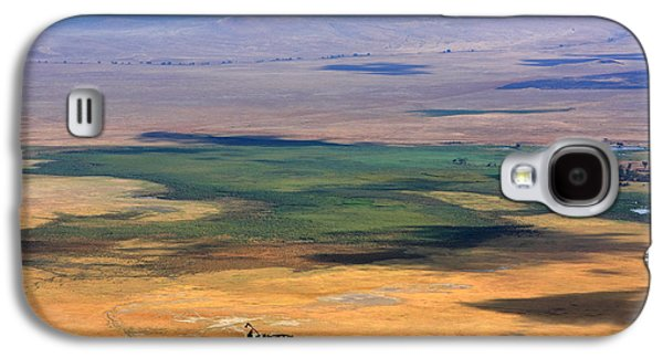 African Heritage Galaxy S4 Cases - Ngorongoro Crater Tanzania Galaxy S4 Case by Aidan Moran