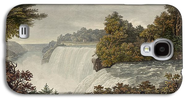 Americans Drawings Galaxy S4 Cases - Niagara Falls Circa 1829 Galaxy S4 Case by Aged Pixel